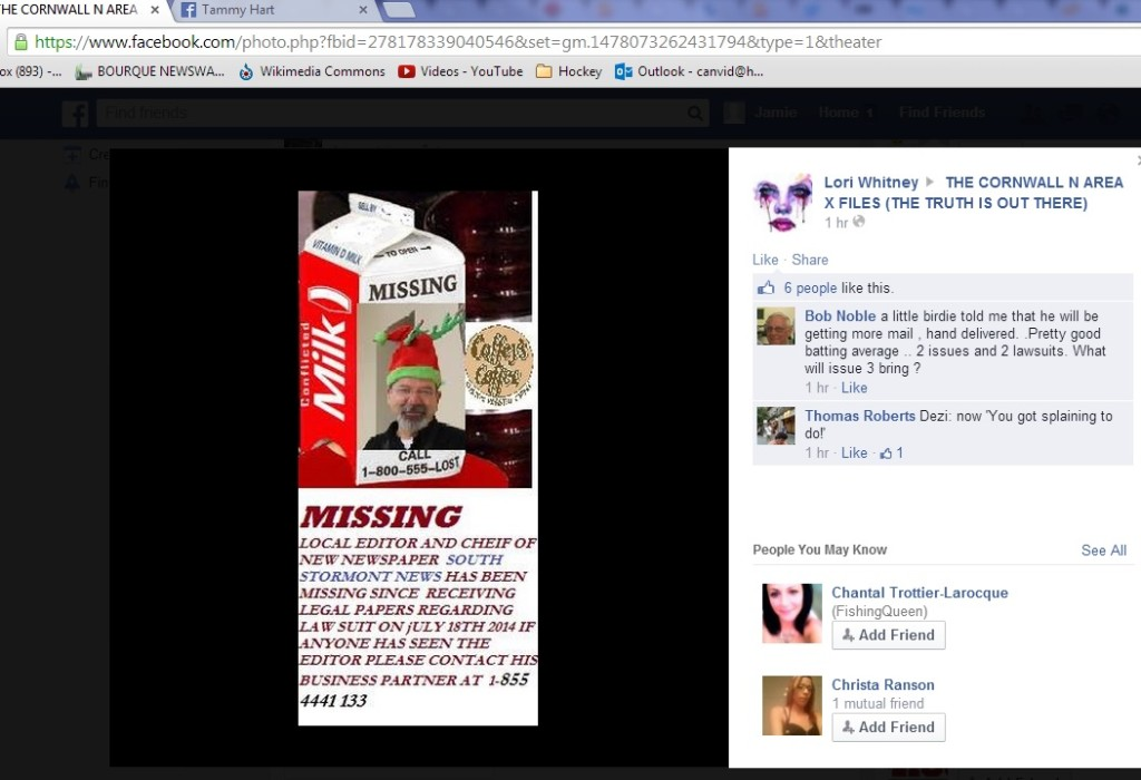 july 27 FACEBOOK whitney reg missing